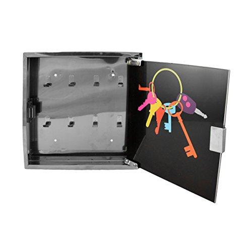 incidence-44950-armoire-boite-a-cles-murale-porte-clefs-noir-et-gris-chrome-metal-et-verre
