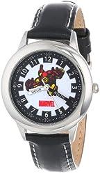 Marvel Kids' W000121 Iron Man Stainless Steel Time Teacher Watch