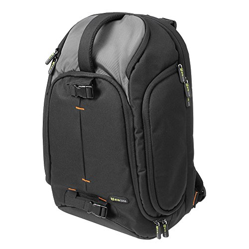 Evecase Large DSLR Camera/Laptop Travel Backpack Gadget Bag w/ Rain Cover for Nikon SLR Series Digital Cameras- Black/Gray