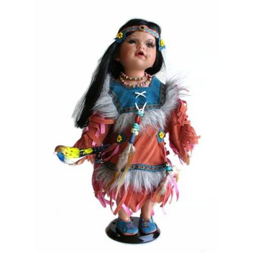 Native American Doll with Bird from the Cathay Collection - Buy Native American Doll with Bird from the Cathay Collection - Purchase Native American Doll with Bird from the Cathay Collection (Cathay Collection By Creative Ventures, Toys & Games,Categories,Dolls,Porcelain Dolls)