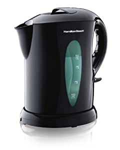Hamilton Beach Electric Kettle, Cordless 1.8-Liter, Black (K6080A)