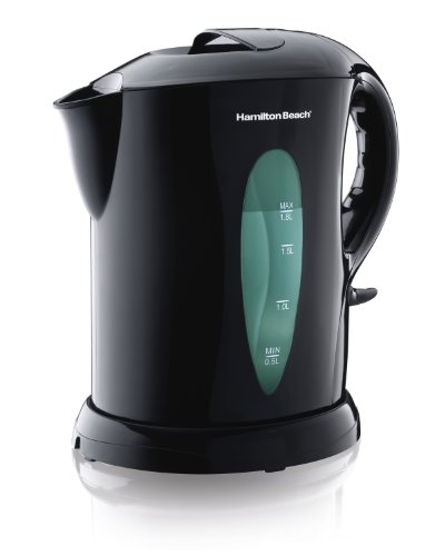 Hamilton Beach K6080 Large Cordless Kettle, 1.8-Liter, Black