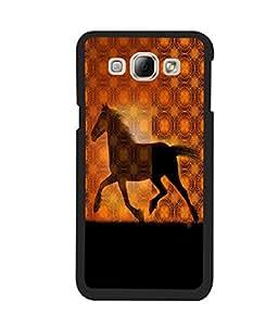 Fuson 2D Printed Horse Designer back case cover for Samsung Galaxy A8 - D4572