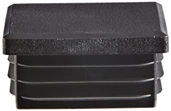 Kapsto 260 Q 4040 1.5 - 2 Polyethylene Square Plug, Black, 40 mm (Pack of 100)