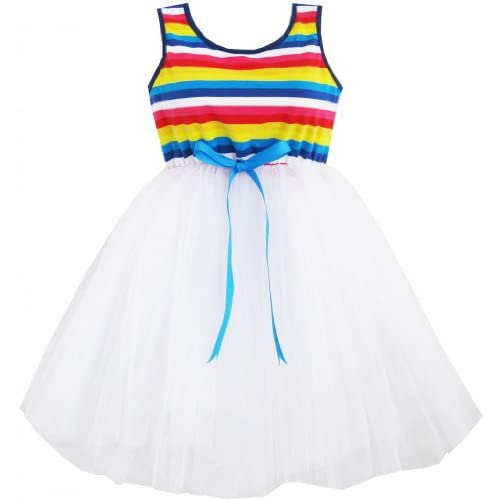 DJ62 子供ドレス 女の子ドレス 子どもドレス チュチュドレス カラフル ダンス レース パーティー 115cm