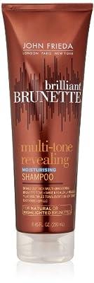 John Frieda Brilliant Brunette Multi-tone Revealing Moisture Shampoo for Natural or Highlighted Brunette, 8.45 Ounce (Pack of 2)