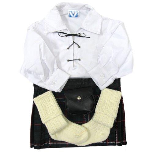 Kit bambini - Camicia, kilt, sporran, calze - Scottish National - 2-3 anni
