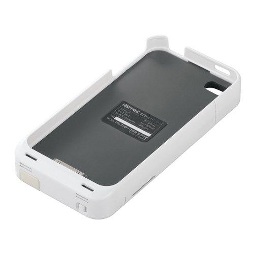 iBUFFALO iPhone 4用 バッテリー内蔵ケース apple認証モデル ホワイト BSIPA11WH