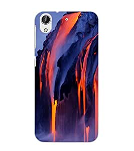 HTC DESIRE 626 LAVA Back Cover by PRINTSWAG