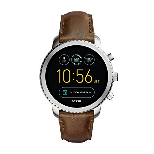 파슬 Fossil Mens Gen 3 Smartwatch Q Explorist Brown Leather,brown