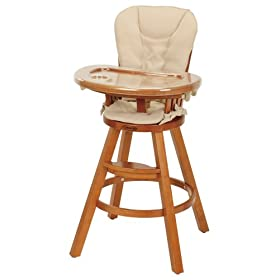 Graco Classic Wood Highchair w/Seat Pad in Butter Pecan