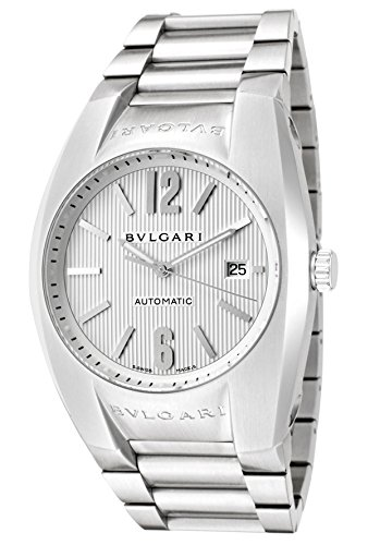 Bulgari Men's Diagono Mechanical/Automatic Silver Textured Dial Stainless Steel