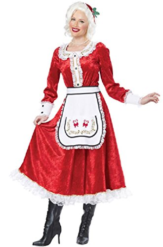 Classic Mrs. Santa Claus Christmas Adult Costume