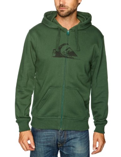 Quiksilver Hood Zip Logo-KPMSW97211 Men's Sweatshirt Moss Green Large