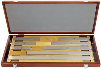 """Mitutoyo Steel Square Long Gage Block Set, ASME Grade AS-1, 5.0 - 20.0"""" Length (8 Blocks)"""