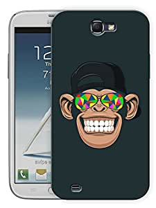"""Humor Gang Chimp TrippingPrinted Designer Mobile Back Cover For """"Samsung Galaxy Note 2"""" (3D, Matte, Premium Quality Snap On Case)..."""