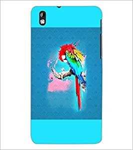 PrintDhaba Parrot D-5964 Back Case Cover for HTC DESIRE 816 (Multi-Coloured)