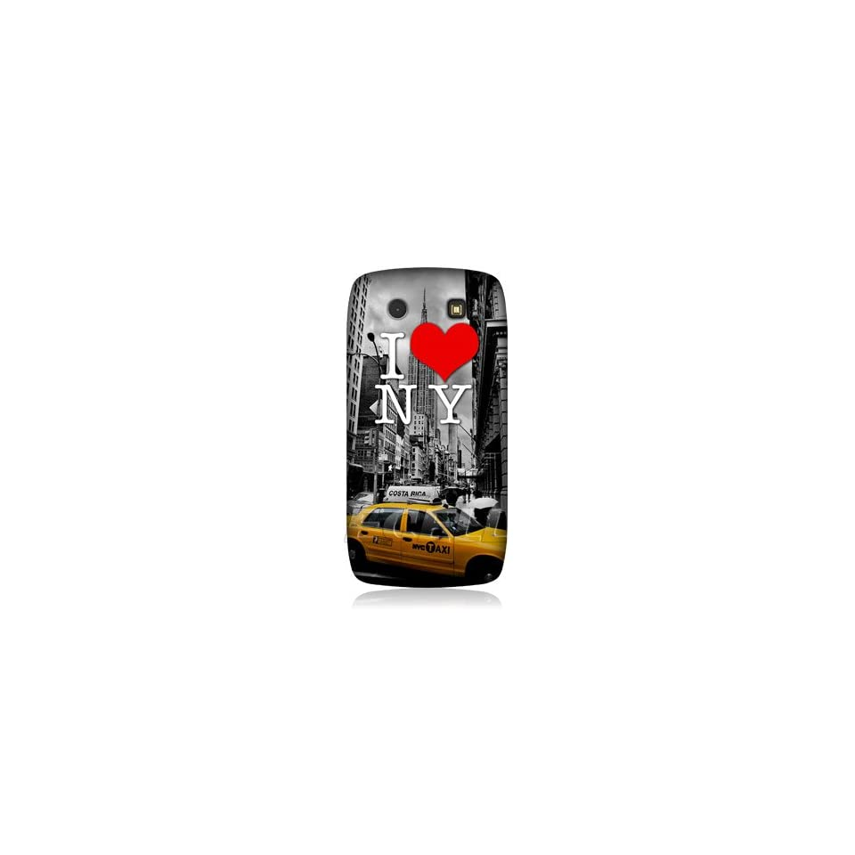 Ecell   HEAD CASE DESIGNS I LOVE NEW YORK YELLOW CAB CASE FOR BLACKBERRY TORCH 9860 9850