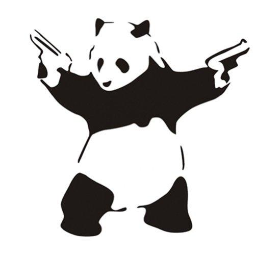 23 6 Quot X 45 3 Quot Large Cool Crazy Panda Gun Shooting Wall