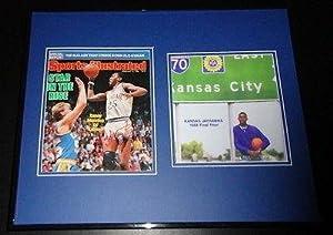 Signed Danny Manning Photo - Framed 16x20 Display Kansas Jayhawks - Autographed NBA... by Sports Memorabilia