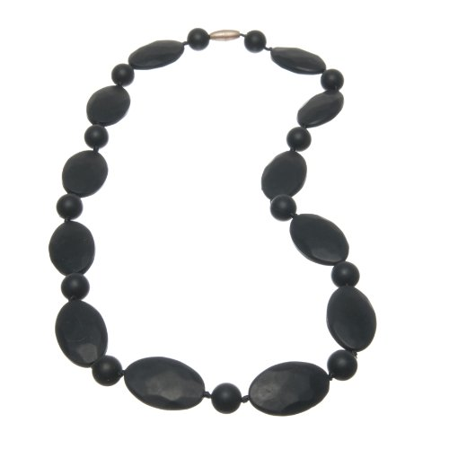 Jelly Strands Ellis Baby Teething Necklace Black