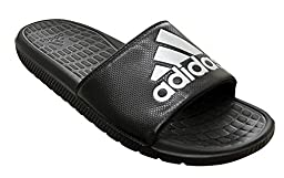 adidas Performance Men\'s Voloomix M Slide Sandal,Black/Silver/Black,14 M US