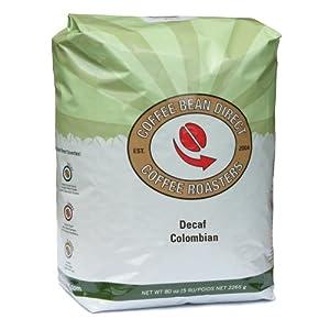 Coffee Bean Direct Decaf Whole Bean Coffee, 5-Pound Bag