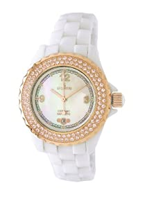 Le Chateau Women's 5809L_WHTMOP All Ceramic and Zirconias Condezza LC Collection Watch