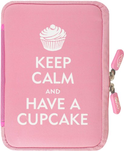 NeoSkin Kindle Zip Sleeve, Keep Calm and Have a Cupcake (Fits Kindle and Kindle Paperwhite, Neoprene Kindle Cover, Kindle Case)
