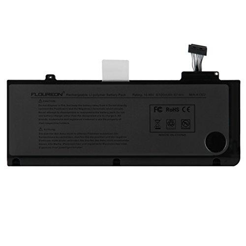 FLOUREON® Batteria per Apple A1322 MacBook Pro 13'' A1278 (2009-2012), 6100mAh 67Wh Notebook PC Portabile MB990*/A MB990LL/A MB990J/A MC724LL/A MC700LL/A Li-Polimero