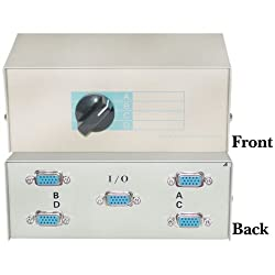 HD15 (VGA) Female, ABCD 4 Way Switch Box