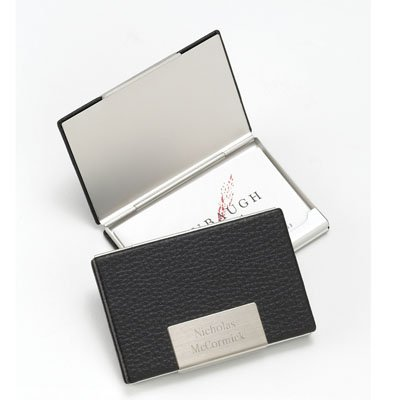 personalized-black-leather-business-card-case