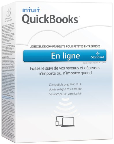 Intuit Quickbooks en ligne Standard, français - Logiciel de comptabilité [OLD VERSION]
