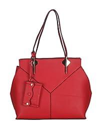 Adamis Beautiful Designed Handbag (Red_B715)