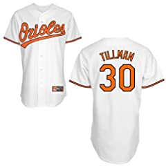 Chris Tillman Baltimore Orioles Home Replica Jersey by Majestic by Majestic
