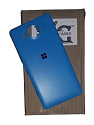 Wise Guys Battery Back Door Panel Replacement Cover for Microsoft Lumia 950 - Cyan Blue