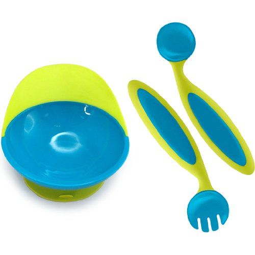 Boon Catch Bowl and Benders, Blue/Green - 1