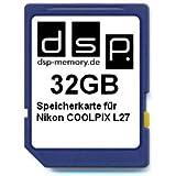 32GB Speicherkarte für Nikon COOLPIX L27