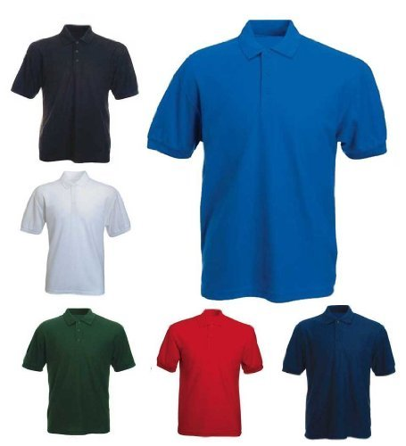 Mens 100% Cotton Rich Polo T Shirts in 6 Colours By MIG Sizes XS to 4XL - SPORTS WORK LEISURE