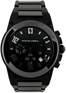 Rockwell Men's CME110 Commander Elite Black-Plated Stainless Steel with Black Ceramic Bezel and Links Watch