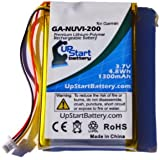 Garmin Nuvi 255W Battery - Replacement for Garmin GPS Navigator Battery (1300mAh, 3.7V, Lithium Polymer)