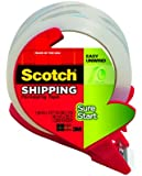 Scotch Sure Start Shipping Packaging Tape with Refillable Dispenser, 1.88 in x 38.2 yd (3450S-RD)