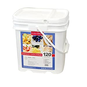 Long Term Food Storage - Lindon FarmsTM 120 Servings Breakfast Bucket by Lindon Farms
