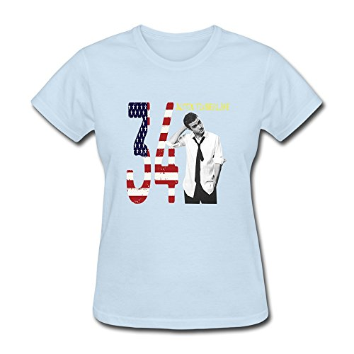 AOPO Justin Timberlake T-shirts For Women Large SkyBlue (Remix Vintage Shoes compare prices)