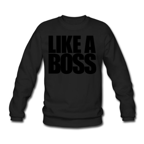 Spreadshirt, Like a Boss no, Men's Sweatshirt, black, XXL