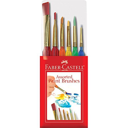 Faber-Castell 6ct Triangular Handle Paint Brush Set - 1