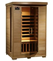Hot Sale Radiant Saunas BSA2409 2-Person Hemlock Infrared Sauna with 6 Carbon Heaters