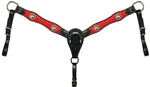 Reinsman Molly Powel Straight Breast Collar Red