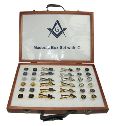 Men's Novelty Designer Masonic Box Set With G Logo - A Great Christmas Gift, Birthday Gift, Valentine Gift For Husbands, Boyfriends, Dads, Friends And Work Colleagues