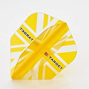 3 x SETS TARGET VISION UNION JACK FLAG YELLOW DART FLIGHTS STANDARD